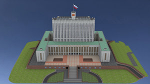 house government russian federation 3D model