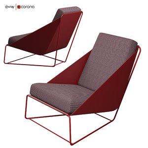 3D alfie chair bonaldo italia model