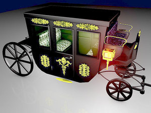 3D vip horse carriage