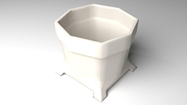 flowerpot 4 3D model