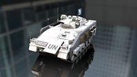 3D warrior mcv military tank