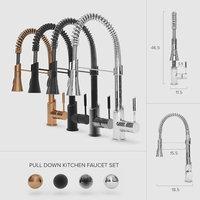 3D pull-down kitchen faucet set model