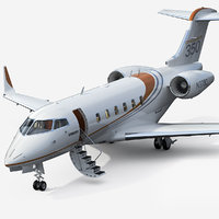 3D bombardier challenger 350 business jet model