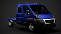 3D model ram promaster truck crew