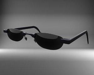 3D sunglasses sun model