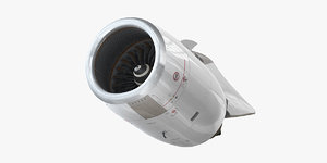 airbus a340 engine 3D model