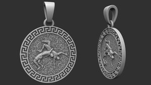 3D jewellery pendant fight printing model