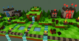 3D model forest -