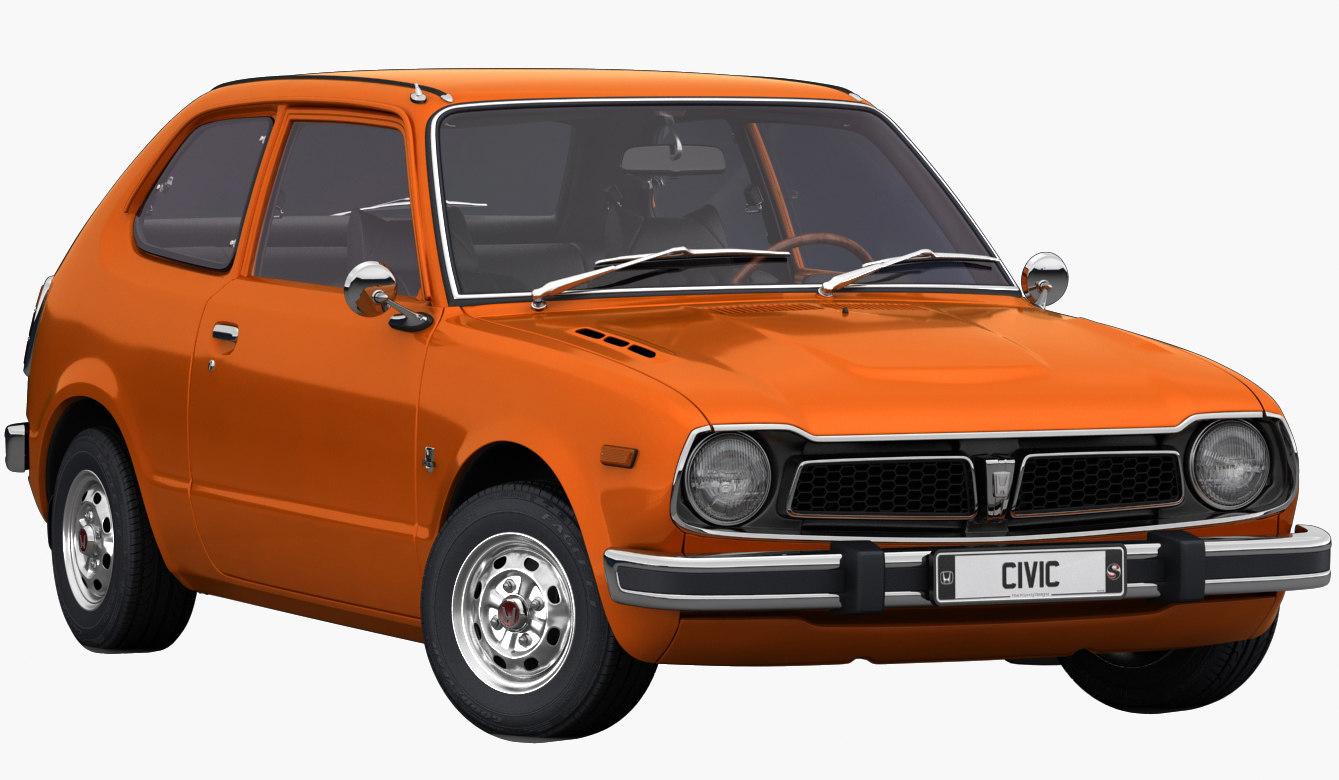 Honda civic 1975 interior 3D model - TurboSquid 1463869
