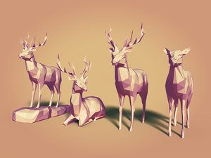 deers cartoon 3D