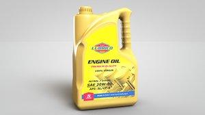 engine motor oil bottle 3D model