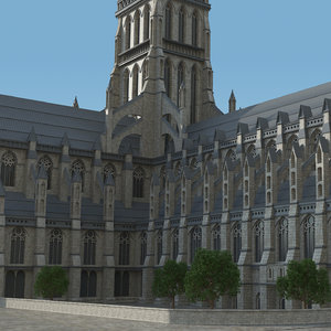 old st pauls cathedral 3D model