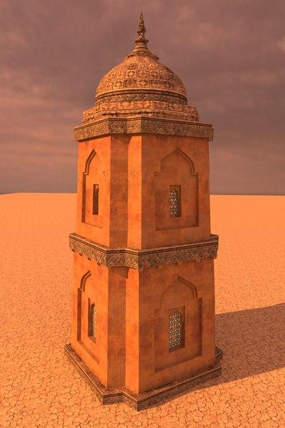 3D arabian tower