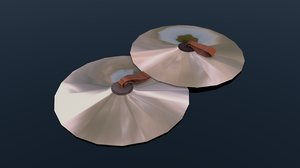 3D model cymbal pairs
