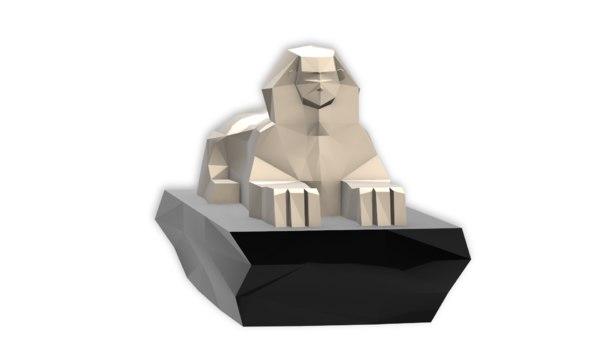 3D model egypt great sphinx giza