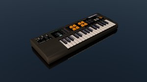casio keyboard musical instrument 3D