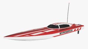 3D rc boat model