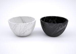 marble bowls 3D model