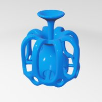 3D sculptures abstract art model