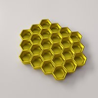 honeycomb honey 3D