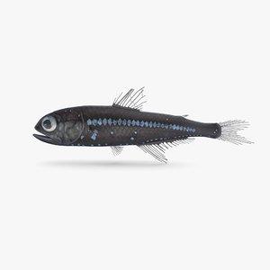 3D model lanternfish pbr