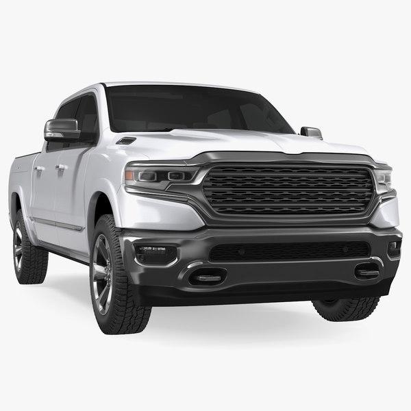 pickup truck generic simple 3D model