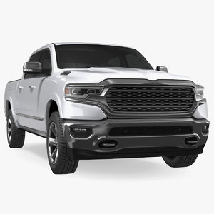 pickup truck generic simple 3D model