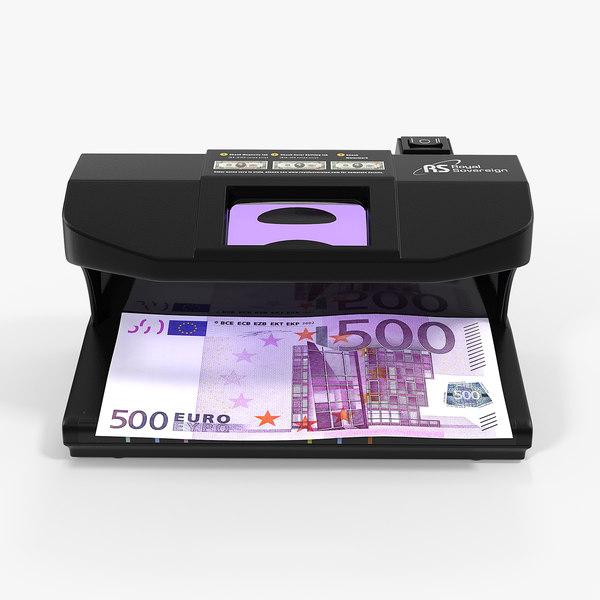 3D ultraviolet counterfeit detector 500 model