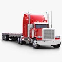 Flatbed Semi-trailer Truck 53ft