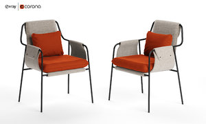 3D fletcher chair industry west model