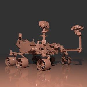 mars curiosity rover 3D model