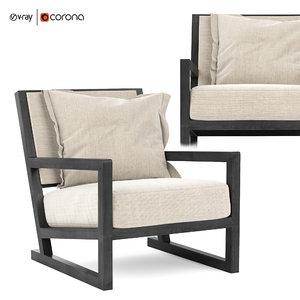 3D model clio maxalto armchair b italia