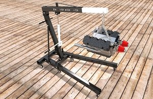 3D folding crane engine