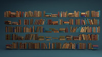 arranged book 3D model