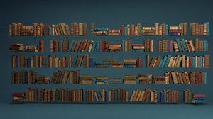 arranged book 3D model