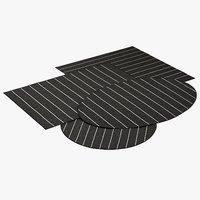 realistic bold graphite rugs 3D model