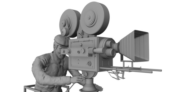 director photography cinematograph camera 3D model