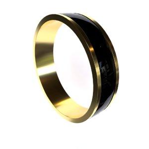 ring gold black 3D