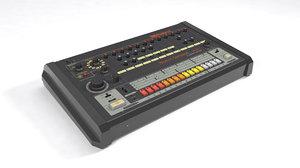 classic roland tr-808 3D model