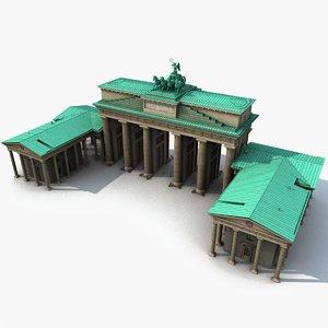 brandenburg gate 1989 model
