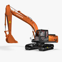Rigged Hitachi ZX200 Hitachi ZX-5 Series Hydraulic Excavator