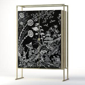 artemest bar cabinet 3D