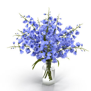 flower bouquet campanula 3D model