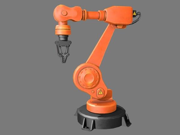3D industrial robotic arm model
