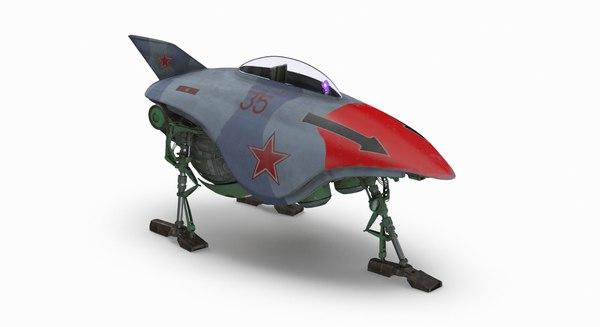 3D scifi fighter
