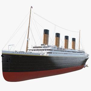 titanic passenger rms 3D model