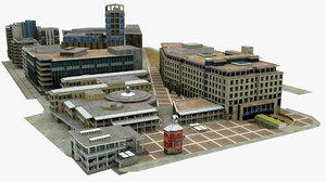 cape town block building 3D model