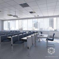3D classroom seats