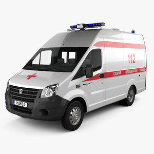 gaz gazelle ambulance 3D
