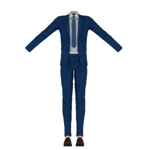 3D mans suit toon